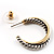Two-Tone Hoop Earrings (Antique Silver&Gold) - view 4
