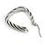 Rhodium Plated Twisted Triangular Hoop Earrings - view 8