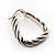Rhodium Plated Twisted Triangular Hoop Earrings - view 5