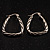 Rhodium Plated Twisted Triangular Hoop Earrings - view 12