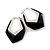 Black Plastic Crystal Hoop Earrings - view 2
