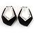Black Plastic Crystal Hoop Earrings - view 6