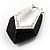 Black Plastic Crystal Hoop Earrings - view 3