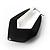 Black Plastic Crystal Hoop Earrings - view 5