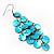Long Turquoise Shell Disk Dangle Earrings - view 3