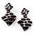Square Enamel Drop Earrings