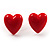 Silver-Tone Heart, Lady Bug & Bunny Stud Earring Set - view 3