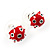 Silver-Tone Heart, Lady Bug & Bunny Stud Earring Set - view 4