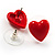 Silver-Tone Heart, Lady Bug & Bunny Stud Earring Set - view 7