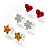 Silver-Tone Heart, Daisy & Star Stud Earring Set - view 9