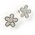 Silver-Tone Heart, Daisy & Star Stud Earring Set - view 10