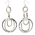Long Mesh Hoop Earrings (Silver Tone) - view 6