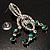 Stunning Emerald Green Swarovski Crystal Chandelier Earrings (Silver Tone) - view 8
