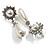 Bridal Simulated Pearl Drop Earrings (Silver Tone) - view 6