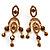 Stunning Amber Coloured Swarovski Crystal Chandelier Earrings (Gold Tone)