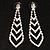 Tie Style Crystal Drop Earrings (Silver&Clear)