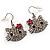Cute Crystal Kitten Earrings (Silver&Clear)