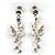 Crystal Fairy Drop Earrings (Silver Tone) - view 2