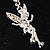Crystal Fairy Drop Earrings (Silver Tone) - view 4