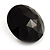 Black Round Faceted Acrylic Stud Earrings - 3cm Diameter - view 4