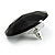 Black Round Faceted Acrylic Stud Earrings - 3cm Diameter - view 5