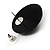 Black Round Faceted Acrylic Stud Earrings - 3cm Diameter - view 6