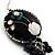 Boho Style Floral Bead Drop Earrings (Silver&Black) - view 4