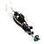 Boho Style Floral Bead Drop Earrings (Silver&Black) - view 5