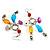 Long Multicoloured Semiprecious Bead Dangle Earrings (Silver Tone) - view 3