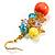 Multicoloured Bead Drop Earrings (Gold Tone) - view 4