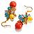 Multicoloured Bead Drop Earrings (Gold Tone) - view 5