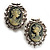 Classic Cameo CZ Clip-On Earrings (Silver Plated) - view 3