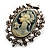 Classic Cameo CZ Clip-On Earrings (Silver Plated) - view 4