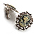 Classic Cameo CZ Clip-On Earrings (Silver Plated) - view 6