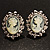 Classic Cameo CZ Clip-On Earrings (Silver Plated) - view 7