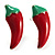 Hot Red Chilly Enamel Stud Earrings