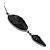 Black Tone Acrylic Drop Earrings - 7cm Drop - view 4