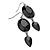 Black Tone Acrylic Drop Earrings - 7cm Drop - view 2