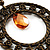 Bronze Filigree Citrine Bead Chandelier Hoop Earrings - 7.5cm Drop - view 5