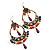 Multicoloured Acrylic Bead Hoop Earrings (Gold Tone) - 9cm Drop - view 5