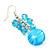 Light Blue Glass Bead Drop Earrings (Silver Tone Metal) - 4.5cm Length - view 6