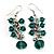 Emerald Green Acrylic Bead Drop Earrings - 5cm Length