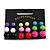 7mm, 9mm, 11mm Multicoloured Acrylic Bead Set of 9 Stud Earring (Silver Metal Finish) - view 3