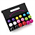 7mm, 9mm, 11mm Multicoloured Acrylic Bead Set of 9 Stud Earring (Silver Metal Finish) - view 2