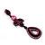 Pink Swarovski Crystal Teardrop-Shaped Long Earrings (Black Tone Metal) - 8.5cm Length - view 9