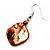 Light Brown Shell Bead Drop Earrings (Silver Tone) - view 3