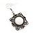 Burn Silver Square Filigree Drop Earrings - 4.5cm Length - view 6