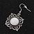 Burn Silver Square Filigree Drop Earrings - 4.5cm Length - view 3