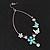 Long Oval Hoop Enamel Butterfly Earrings (Rhodium Plated Finish) - 10cm Length - view 3