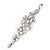 Long Swarovski Clear Crystal Chandelier Earrings ( Silver Plated Metal) - 11.5cm Drop - view 6
